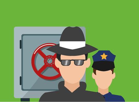 Concept de sécurité avec design d'icône, illustration vectorielle illustration 10 eps. Vecteurs