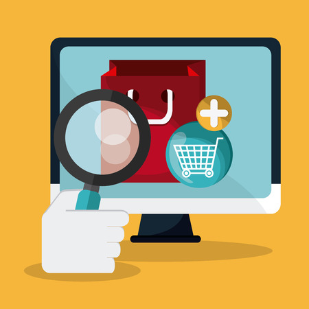 searching: Searching concept with icon design, vector illustration 10 eps graphic. Illustration