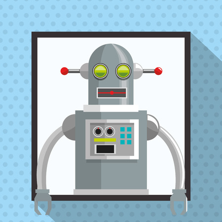 cybernetics: Robot concept with icon design, vector illustration 10 eps graphic. Illustration