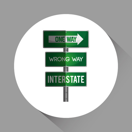 guide board: Road sign concept with icon design, vector illustration 10 eps graphic