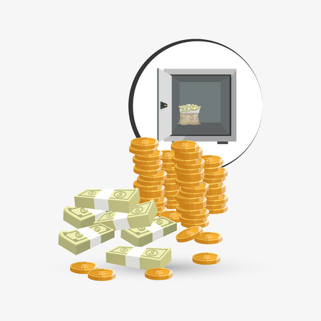 strongbox: Money concept with icon design, vector illustration 10 eps graphic.