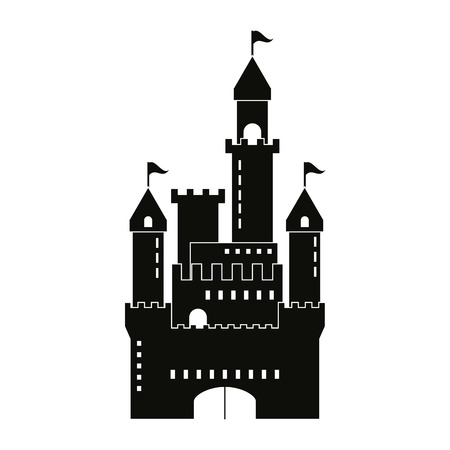 Castle concept with icon design, vector illustration 10 eps graphic.