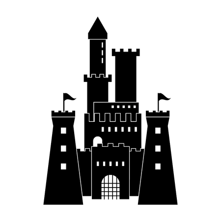 Castle concept with icon design, vector illustration 10 eps graphic. 向量圖像
