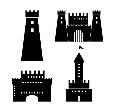 gothic architecture: Castle concept with icon design, vector illustration 10 eps graphic. Illustration
