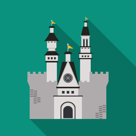 citadel: Castle concept with icon design, vector illustration 10 eps graphic. Illustration