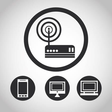 computing machine: Internet  concept with icon design, vector illustration 10 eps graphic.