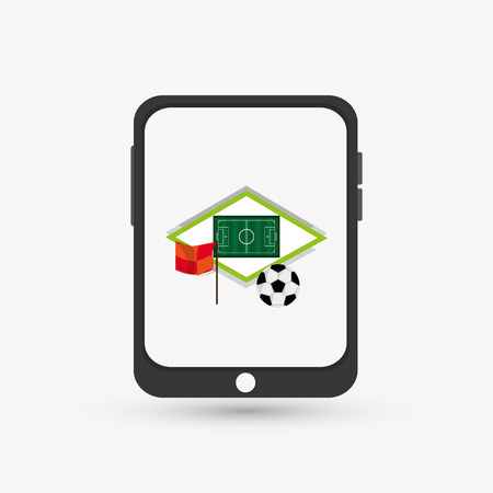 sportive: Sport concept with icon design, vector illustration 10 eps graphic.