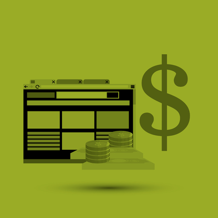 paying bills online: Money concept with icon design, vector illustration   graphic.