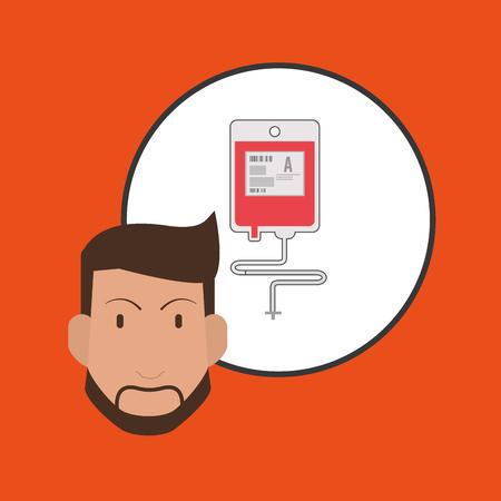 Doktor-Konzept mit Icon-Design, Vektor-Illustration