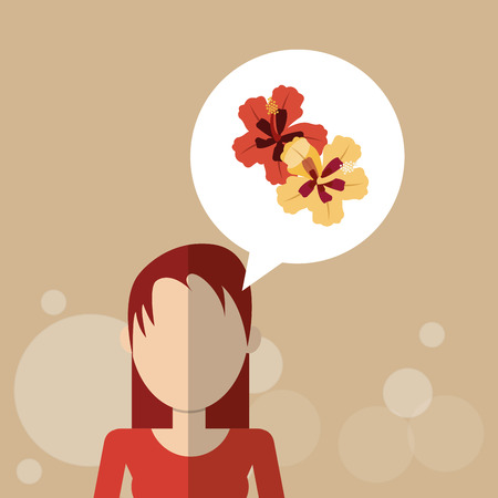 woman gardening: Flower concept with icon design, vector illustration 10 eps graphic.