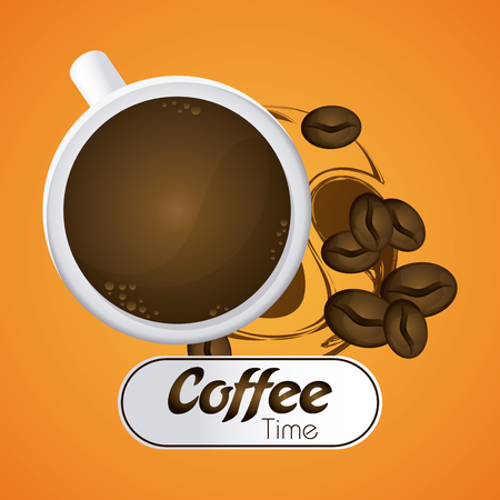 coffee time: Coffee time concept with icon design, vector illustration