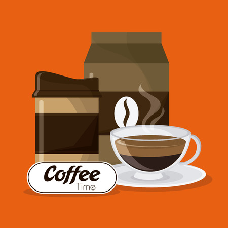 coffee time: Coffee time concept with icon design, vector