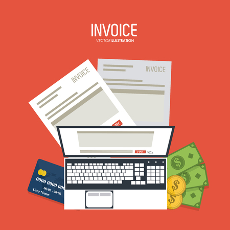 accounts payable: Invoice  concept with icon design, vector illustration