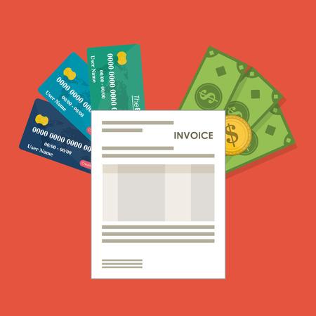 registros contables: Invoice  concept with icon design, vector illustration