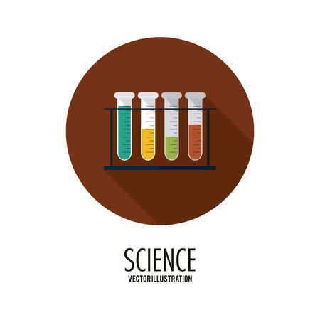 a solution tube: Science concept with icon design, vector illustration