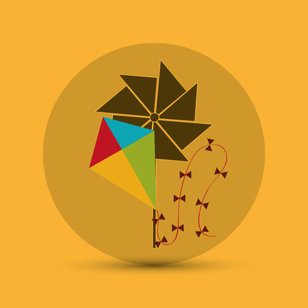 windmill toy: Toy concept with icon design, vector illustration 10 eps graphic.