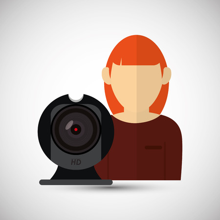 digicam: Technology concept with icon design, vector illustration 10 eps graphic. Illustration