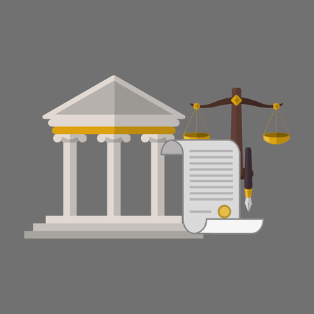 courthouse: Law concept with icon design, vector illustration 10 eps graphic.