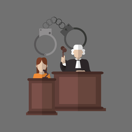 witness: Law concept with icon design, vector illustration 10 eps graphic.