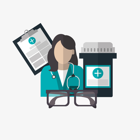 medical treatment: Medical care  concept with icon design, vector illustration 10 eps graphic. Illustration