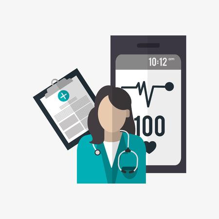 historia clinica: Medical care  concept with icon design, vector illustration 10 eps graphic. Vectores