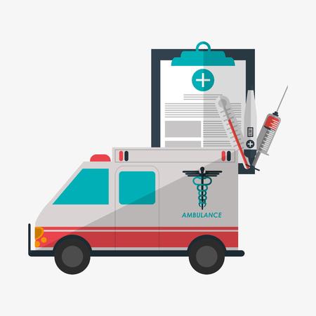 clinic history: el concepto del cuidado m�dico con el dise�o de iconos, ilustraci�n vectorial eps 10 gr�fico. Vectores