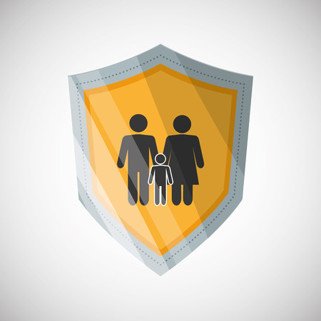 risky: Insurance concept with icon design, vector illustration 10 eps graphic.