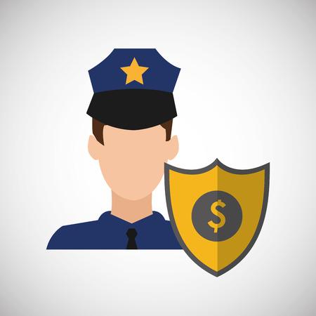 concept de l'assurance avec l'icône de conception, illustration vectorielle 10 eps graphique.