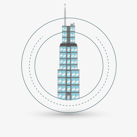 window seal: City concept with icon design, vector illustration 10 eps graphic.