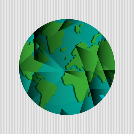 environment geography: Planet  concept with icon design, vector illustration 10 eps graphic.