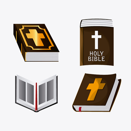 Bible concept with icon design, vector illustration 10 eps graphic.