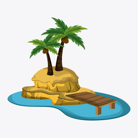 summertime: Beach concept with icon design, vector illustration 10 eps graphic.