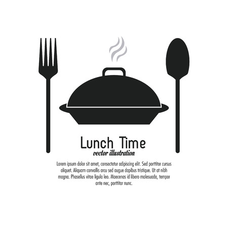 cooking time: Lunch time concept with icon design, vector illustration 10 eps graphic. Illustration