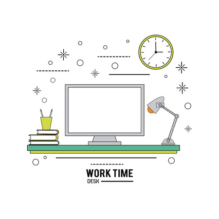 Arbeitszeit-Konzept mit Icon-Design, Vektor-Illustration 10 EPS-Grafik.