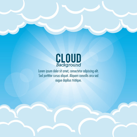 wheater: Cloud concept with icon design, vector illustration 10 eps graphic.
