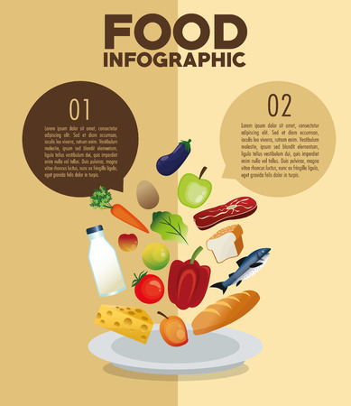 food to eat: Food concept with icon design, vector illustration 10 eps graphic.