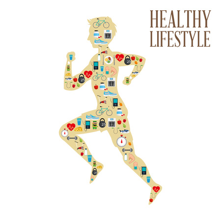 diet food: Healthy lifestyle  concept with icon design, vector illustration 10 eps graphic. Illustration