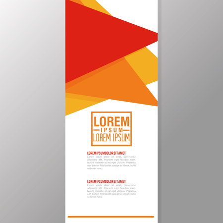 headline: Flyer headline concept with icon design, vector illustration 10 eps graphic.