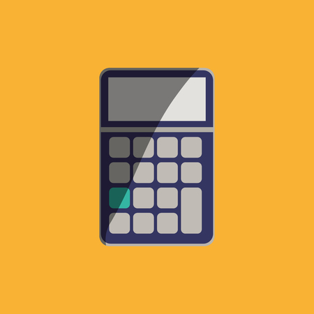 Calculator concept with icon design, vector illustration 10 eps graphic Иллюстрация