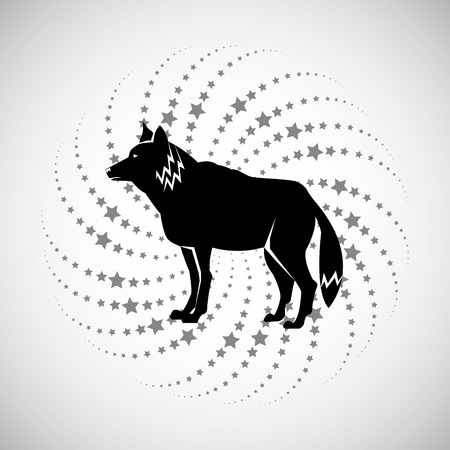 dreadful: Animal concept with icon design, vector illustration 10 eps graphic.