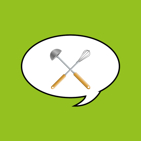 ladles: Kitchen supplies concept with icon design Illustration