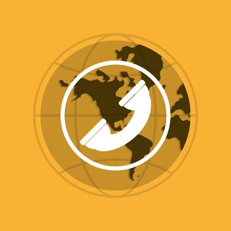 telemarketer: Call center concept with icon design