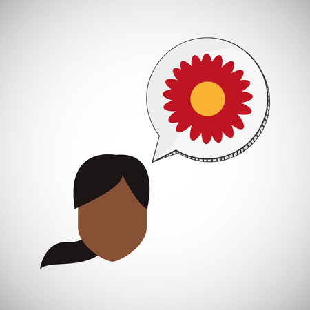 flower concept: Flower concept with icon design Illustration