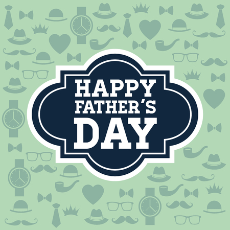 masculine: Happy Fathers day concept with icon design, vector illustration 10 eps graphic.