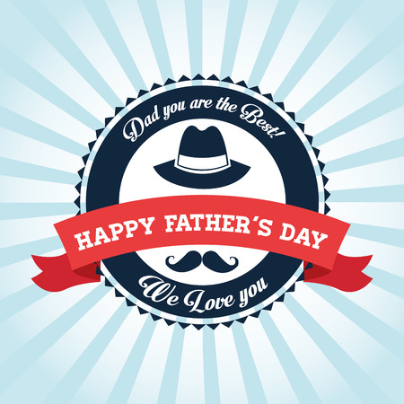 Happy Fathers day concept with icon design, vector illustration 10 eps graphic.