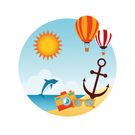 summertime: Summer concept with icon design, vector illustration 10 eps graphic. Illustration