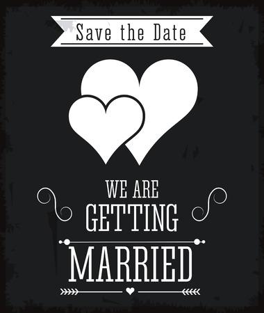 Verheiratet Konzept mit Icon-Design