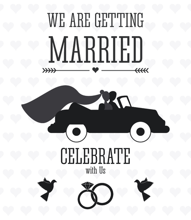 eps vector icon: Married concept with icon design, vector illustration 10 eps graphic.