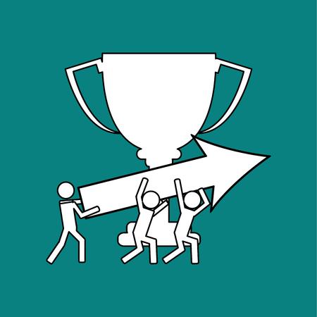 competitors: Winner concept with icon design Illustration