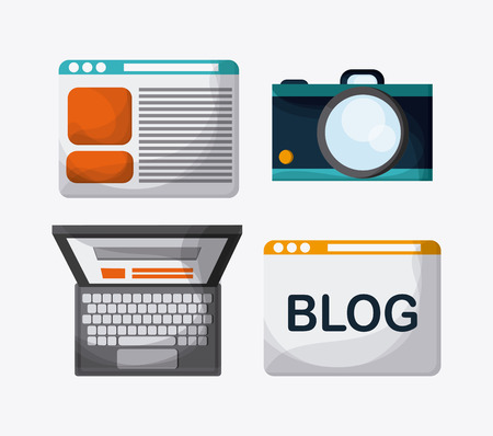 blogging: Blogging concept with icon design, vector illustration 10 eps graphic. Illustration